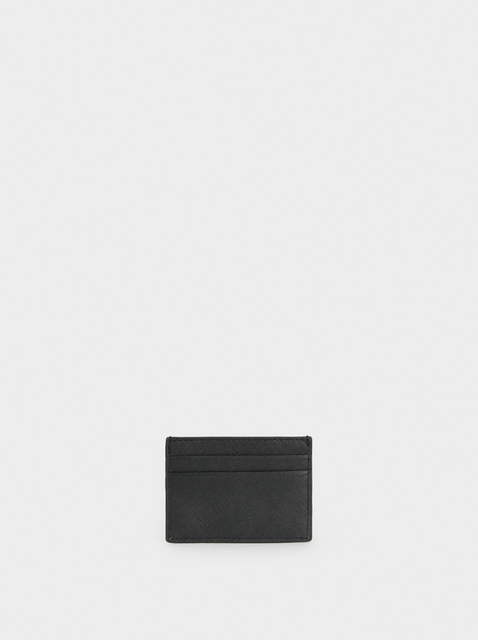 Plain Card Holder, Black, hi-res