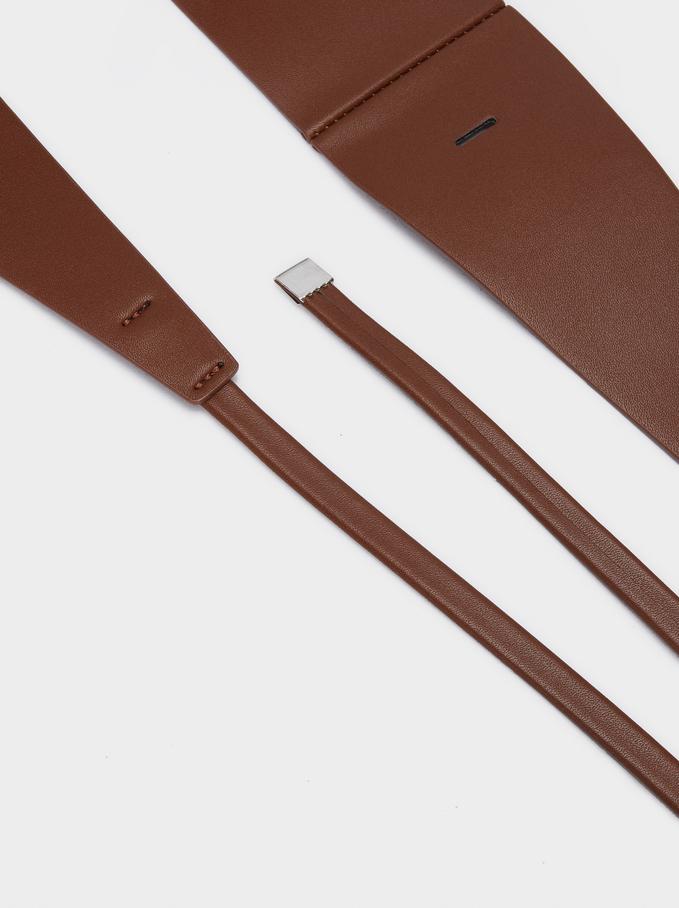 Sash Belt, Brown, hi-res