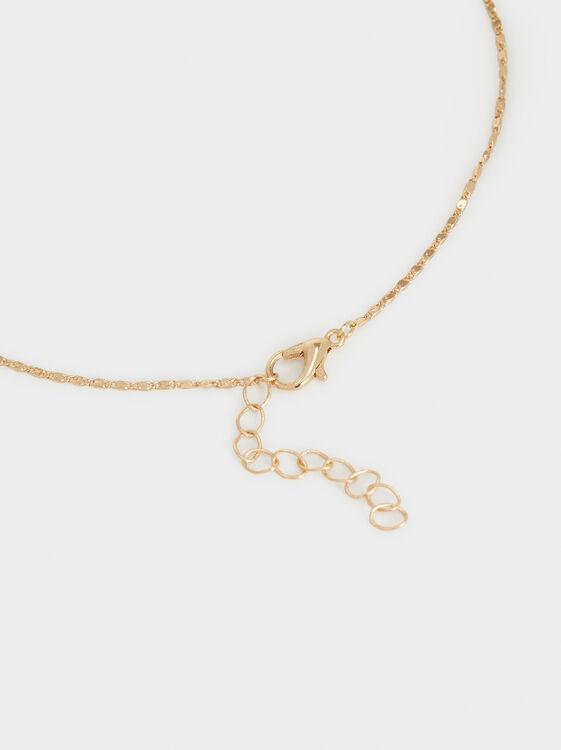Creme Necklace Set, Golden, hi-res