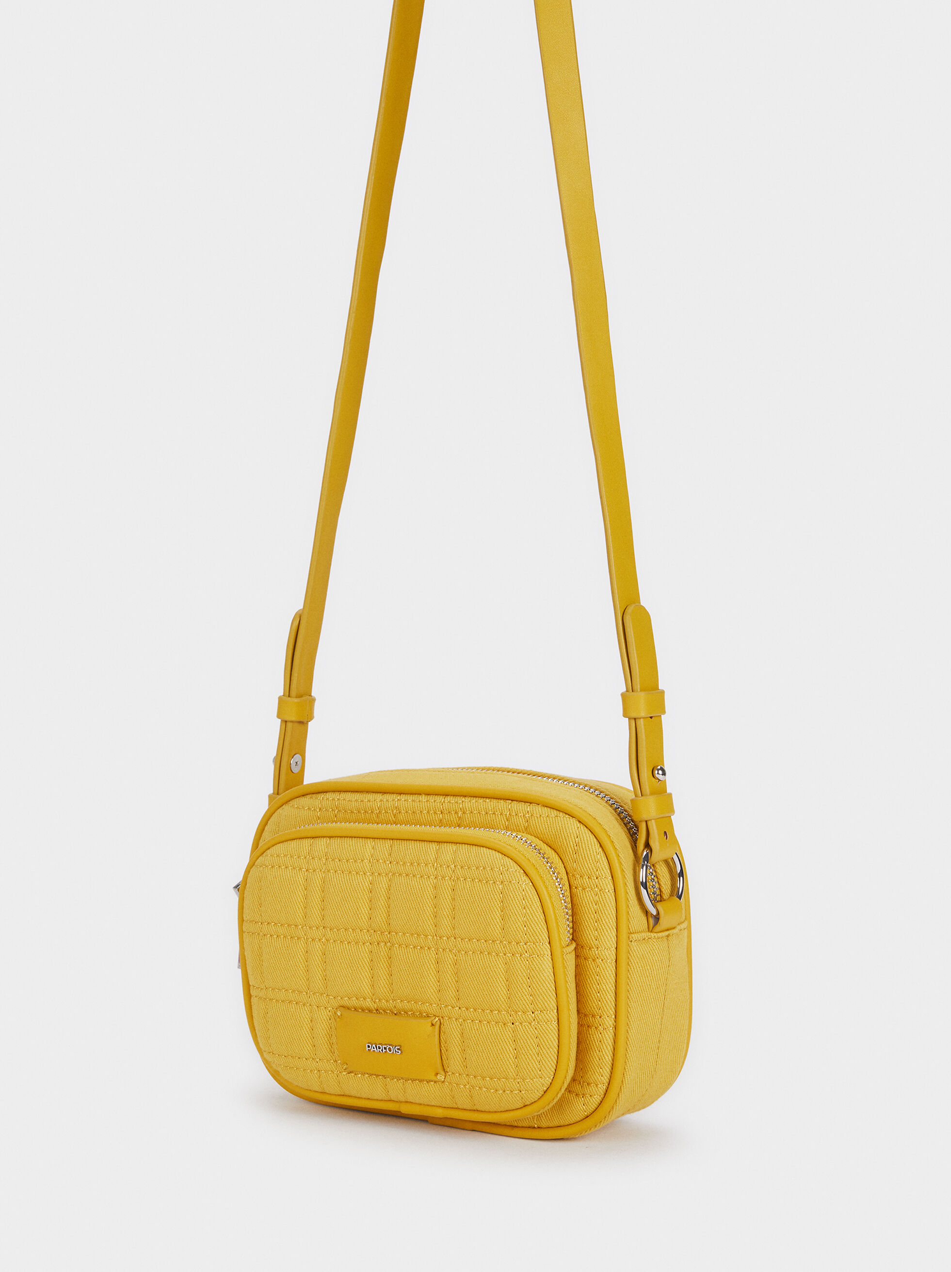 Crossbody Bag With Adjustable Strap, Yellow, hi-res