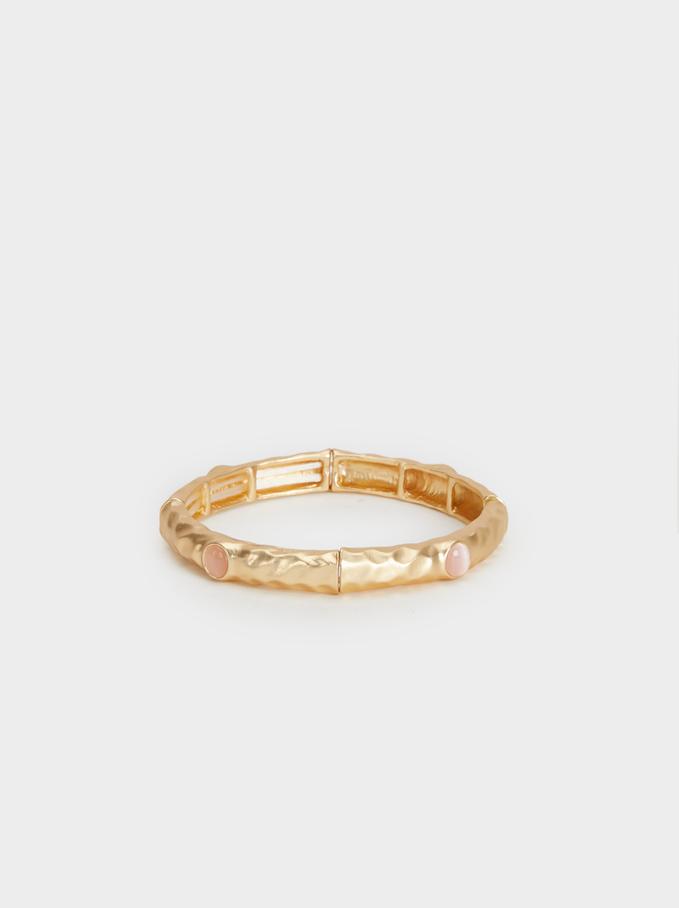 Stone Story Elastic Bracelet, Pink, hi-res