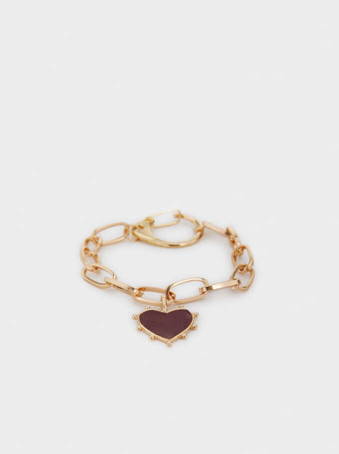Pulsera Chains And Charms, Burdeos, hi-res