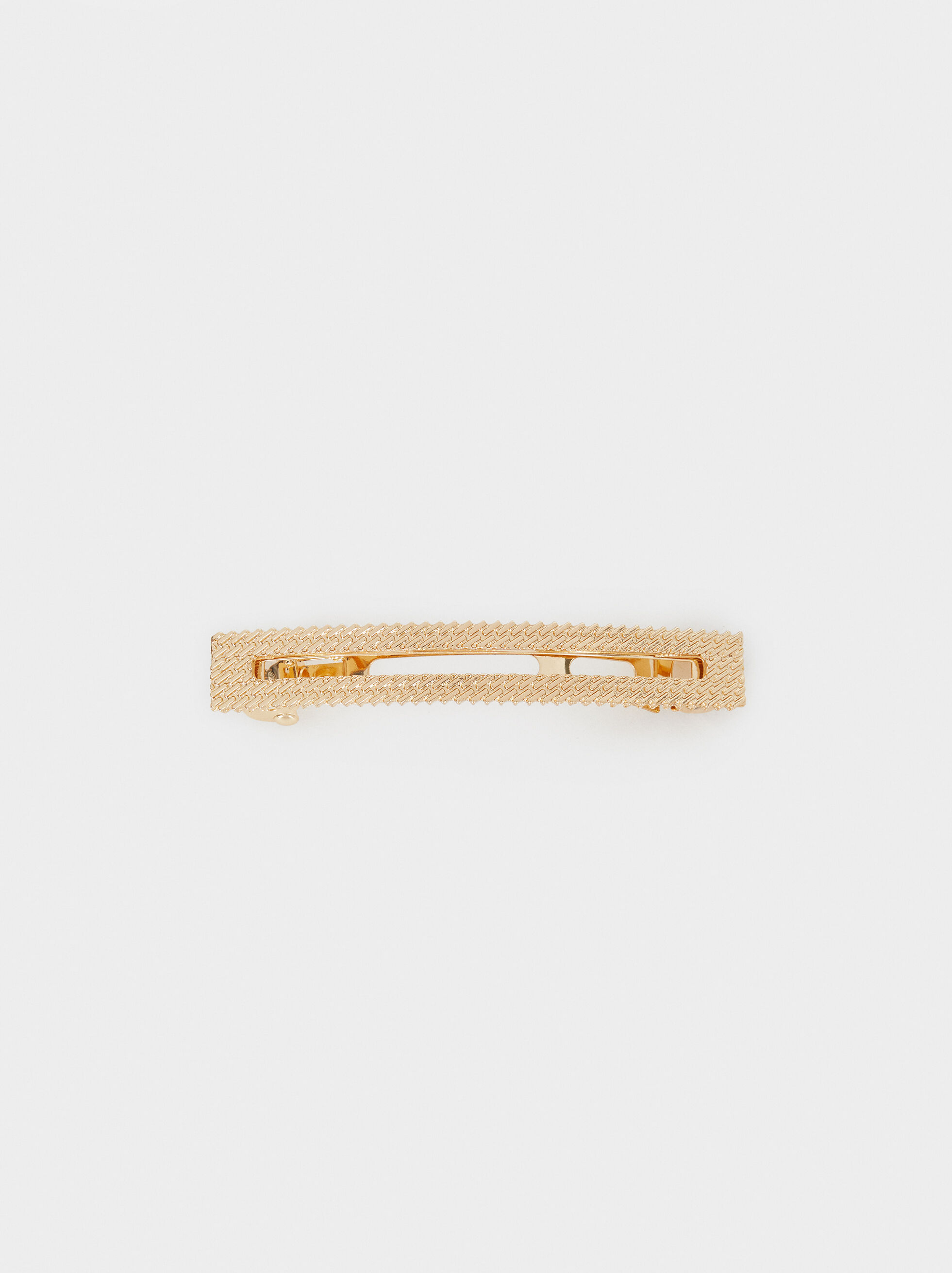 Golden Metallic Clip, Golden, hi-res
