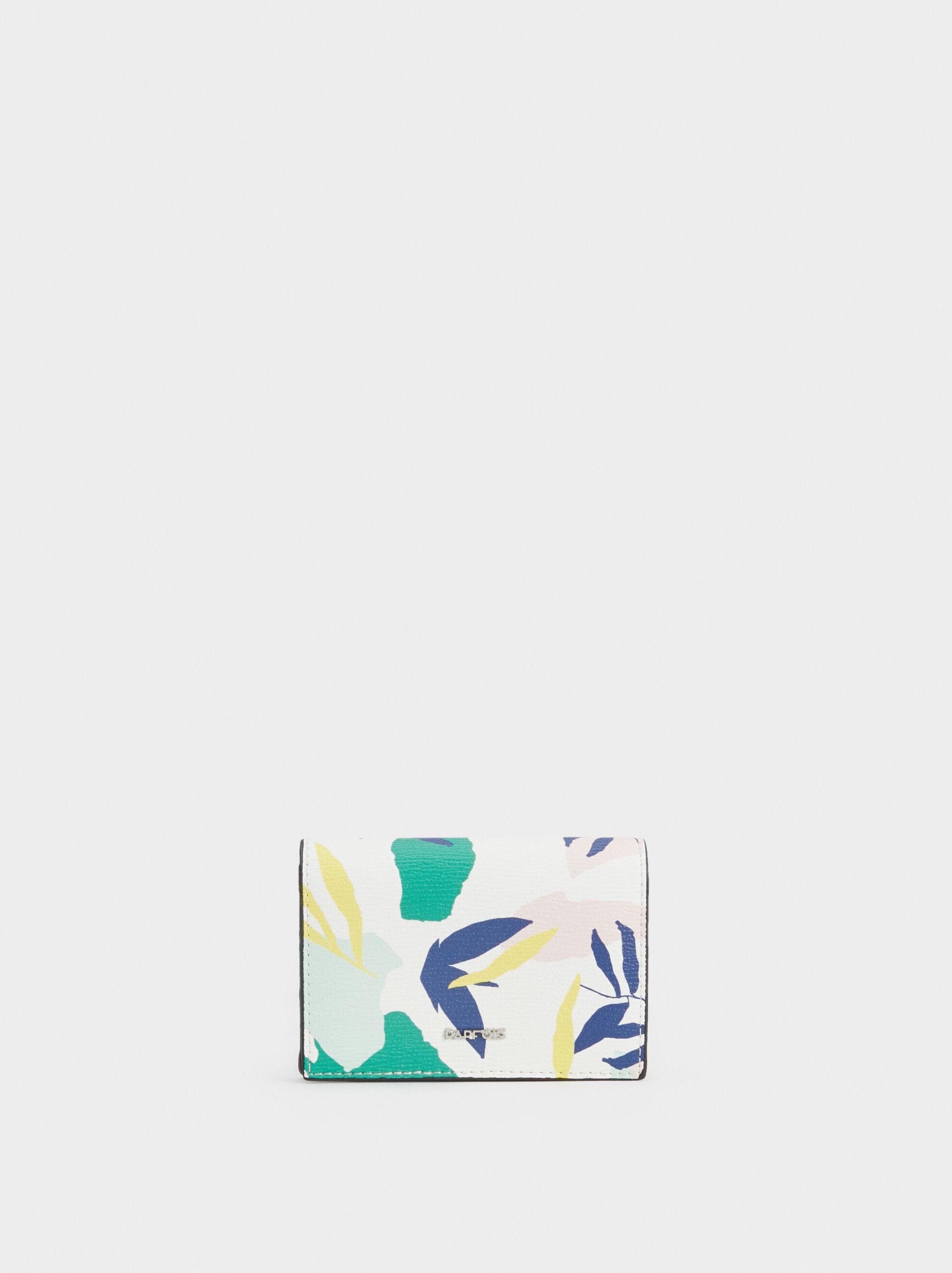Small Floral Print Purse, Green, hi-res