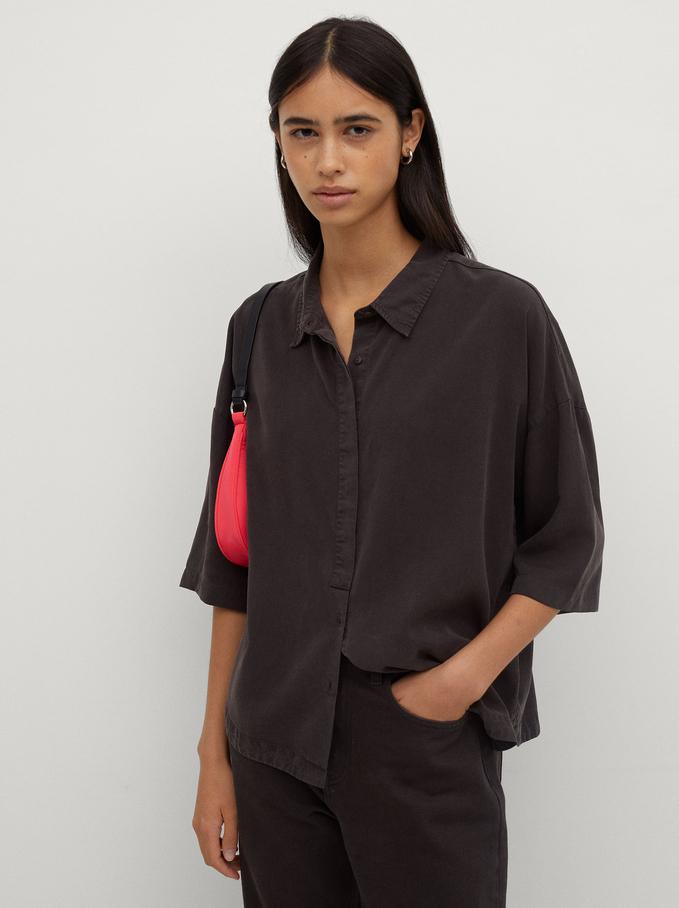 100% Lyocell Shirt, Grey, hi-res