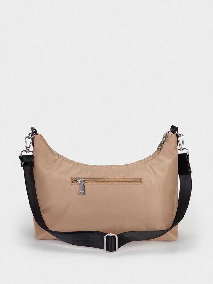 Nylon Shoulder Bag, Camel, hi-res