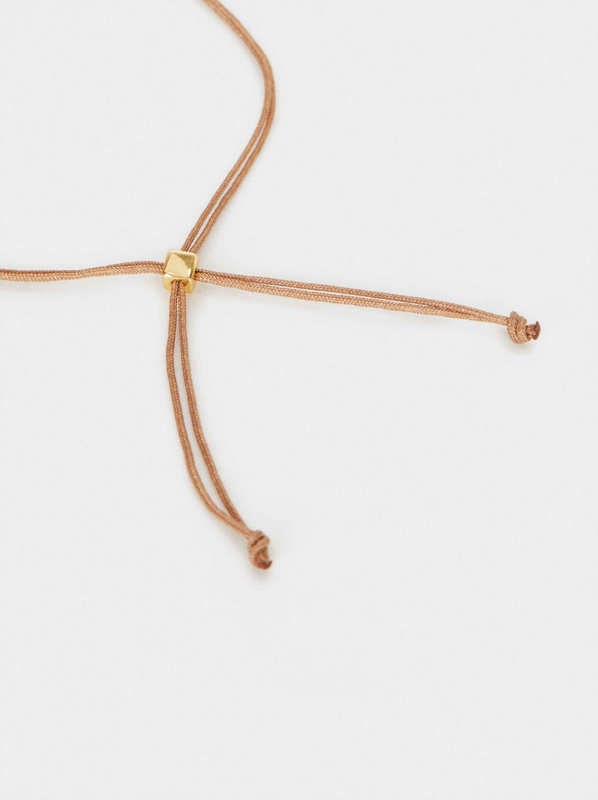 925 Silver Adjustable Bracelet With Stone, Coral, hi-res
