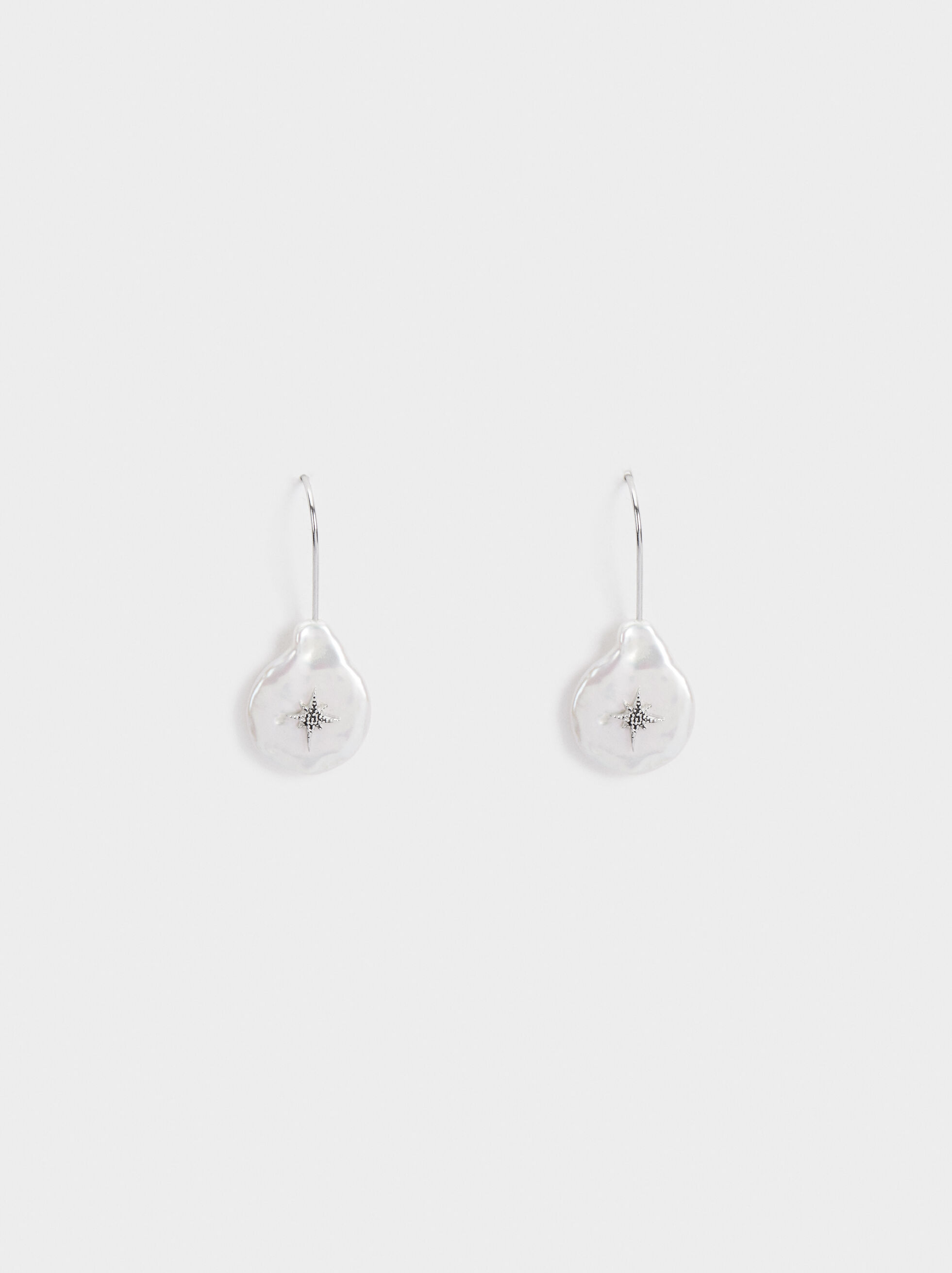 925 Silver Earrings With Pendant, , hi-res