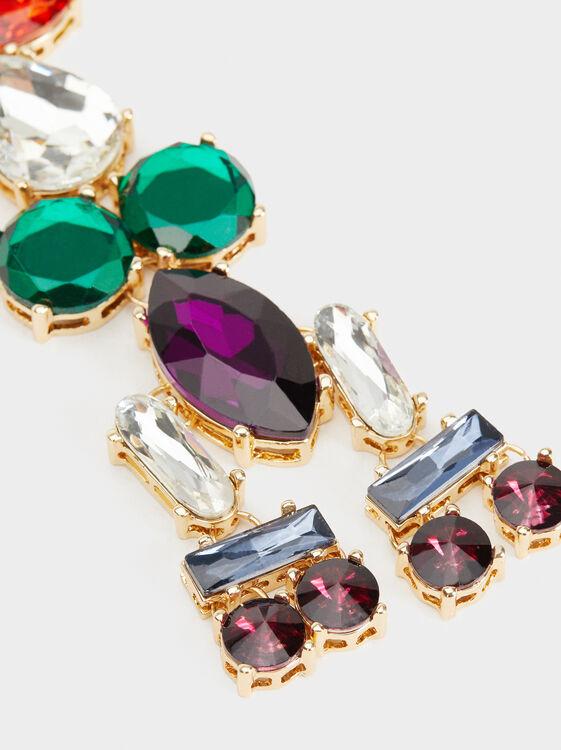 Bejewelled Key Ring, Multicolor, hi-res