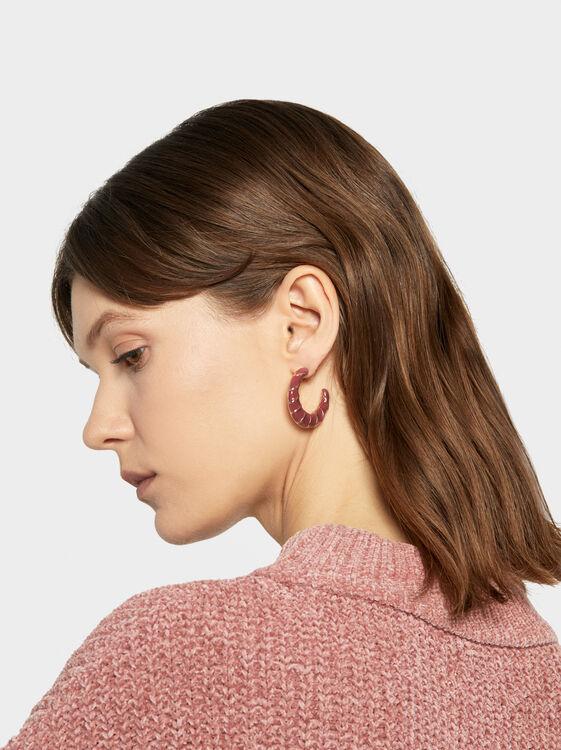 Land Medium Hoop Earrings, Camel, hi-res