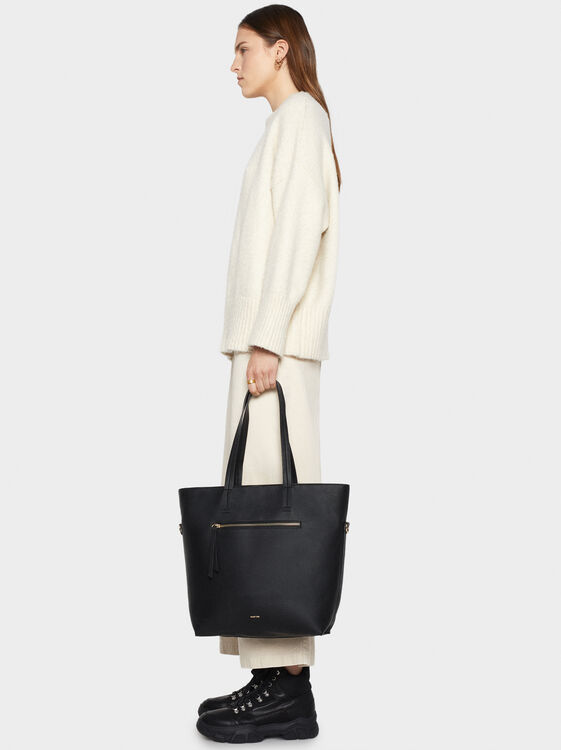 Tote Bag With Outer Pocket, , hi-res