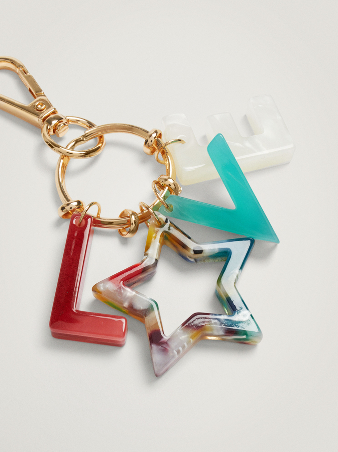 Charms Key Ring, Multicolor, hi-res