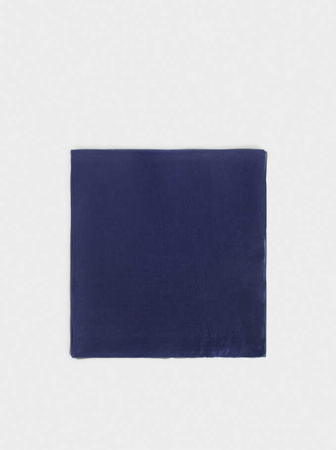 Pañuelo De Ceremonia Liso, Azul, hi-res