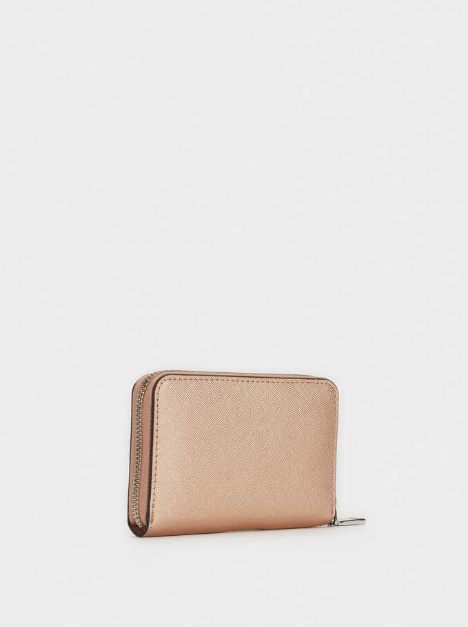 Cartera Compacta Basic Bill, Naranja, hi-res