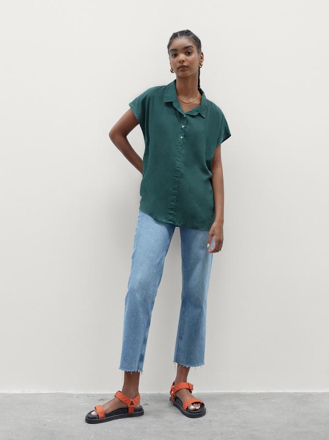 Koszula 100% Lyocell, Zielony, hi-res