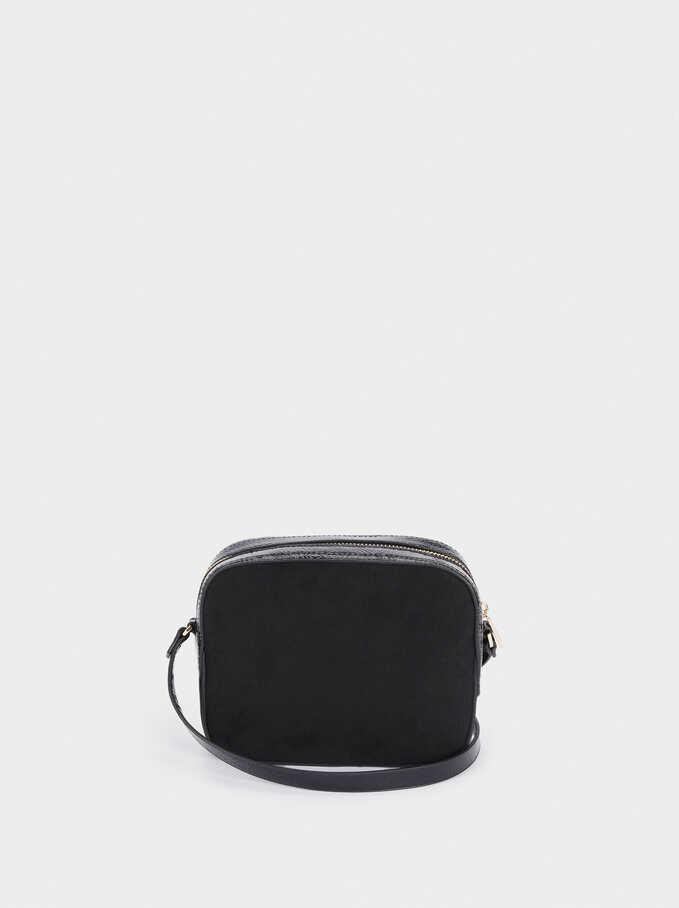 Combined Crossbody Bag, Black, hi-res