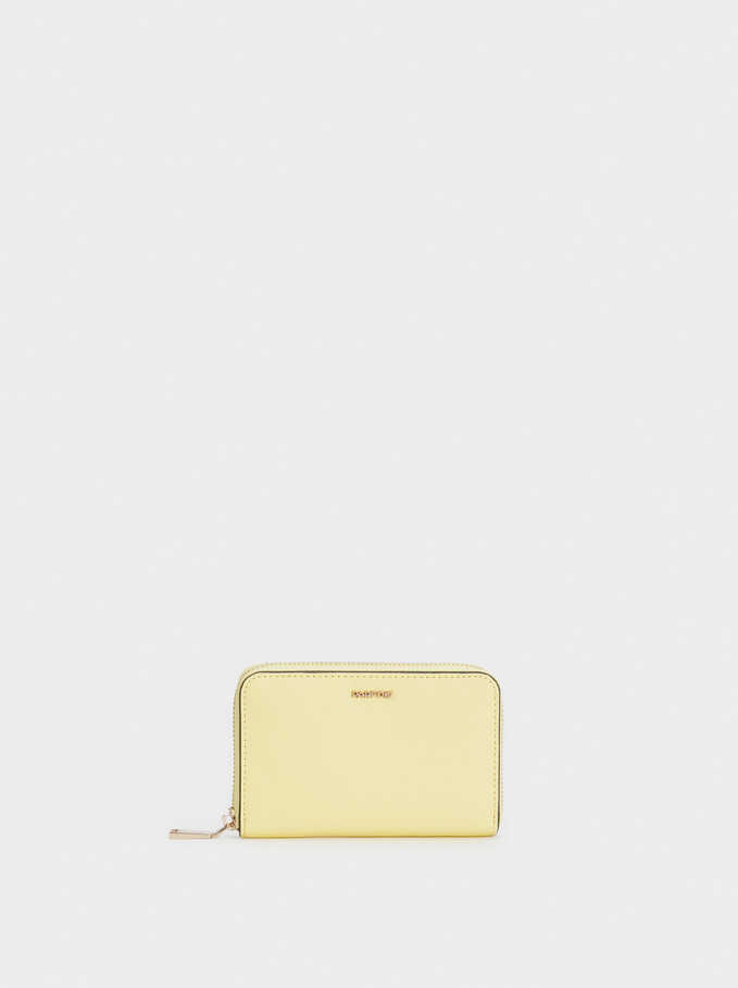 Zipped Purse, Yellow, hi-res