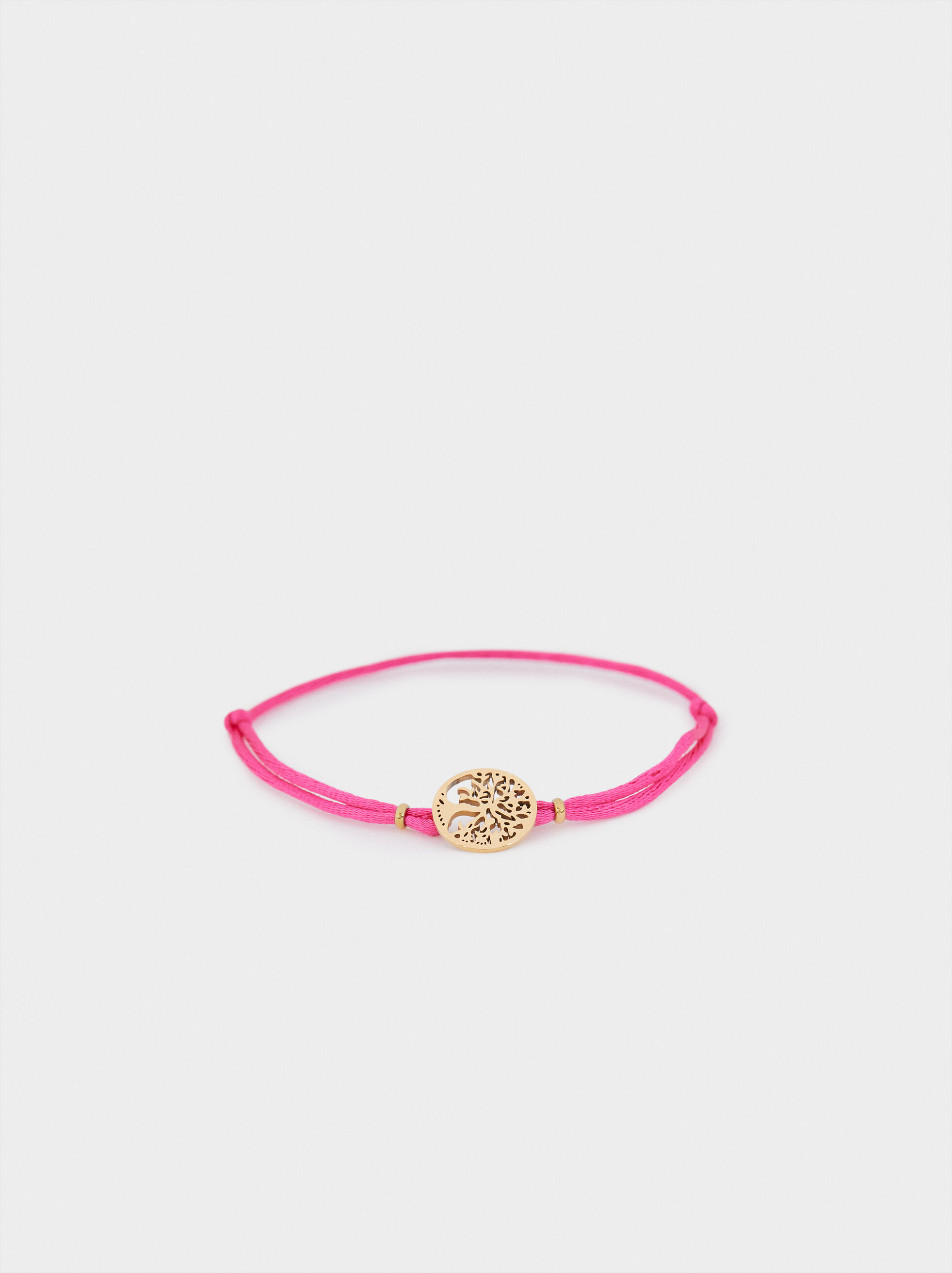 Adjustable Chain Bracelet With Tree Detail, , hi-res
