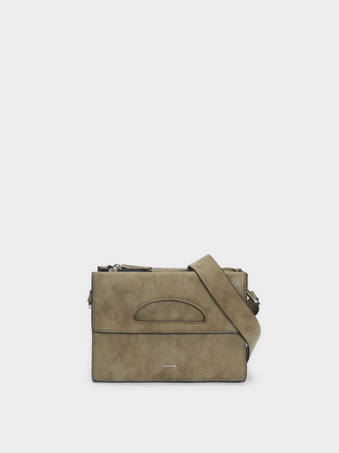 Adjustable Crossbody Bag, Khaki, hi-res