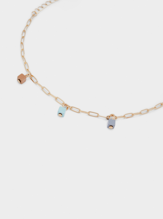 Bracelet With Links And Beads, Multicolor, hi-res