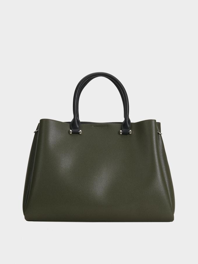 Plain Tote Bag, Khaki, hi-res
