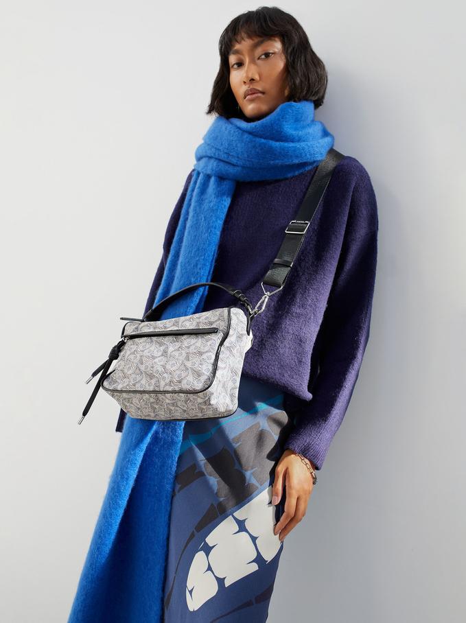 Nylon Crossbody Bag Made From Recycled Materials, Grey, hi-res