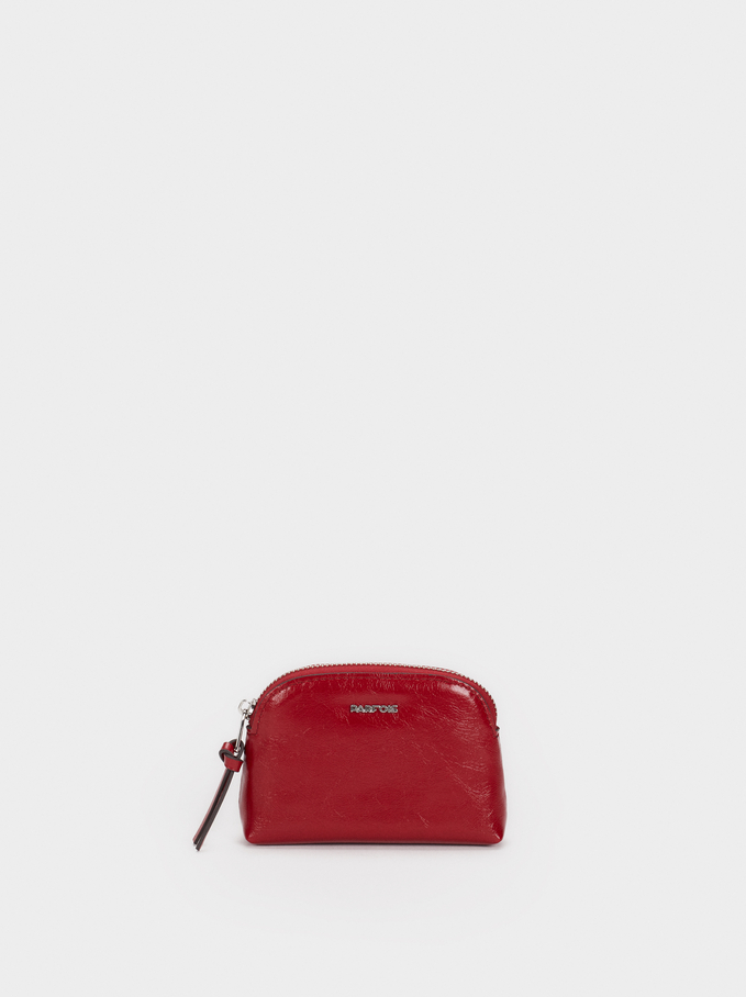 Patent Finish Small Purse, Red, hi-res