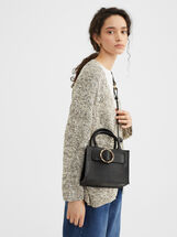 Shoulder Bag With Tortoiseshell Buckle, , hi-res