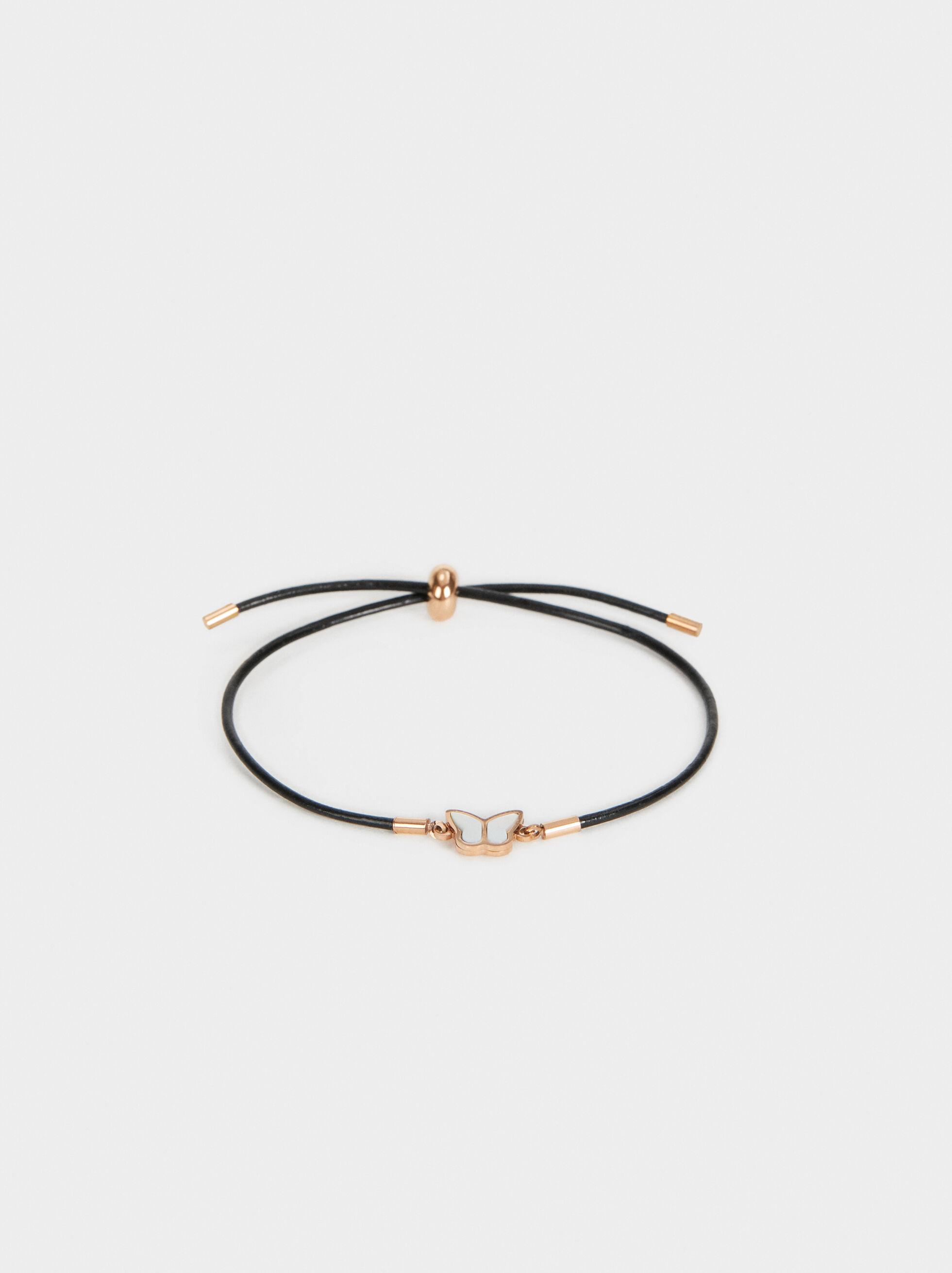 Steel Butterfly Bracelet, Orange, hi-res