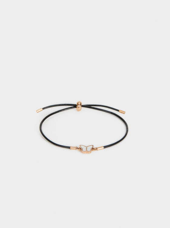 Steel Butterfly Bracelet, Orange, hi-res