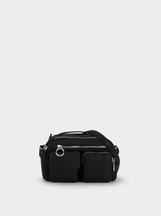 Crossbody Bag With Exterior Pockets, , hi-res