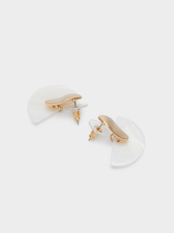 Short Geometric Earrings, Golden, hi-res