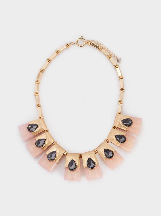 Exclusive Collection Short Necklace, Pink, hi-res