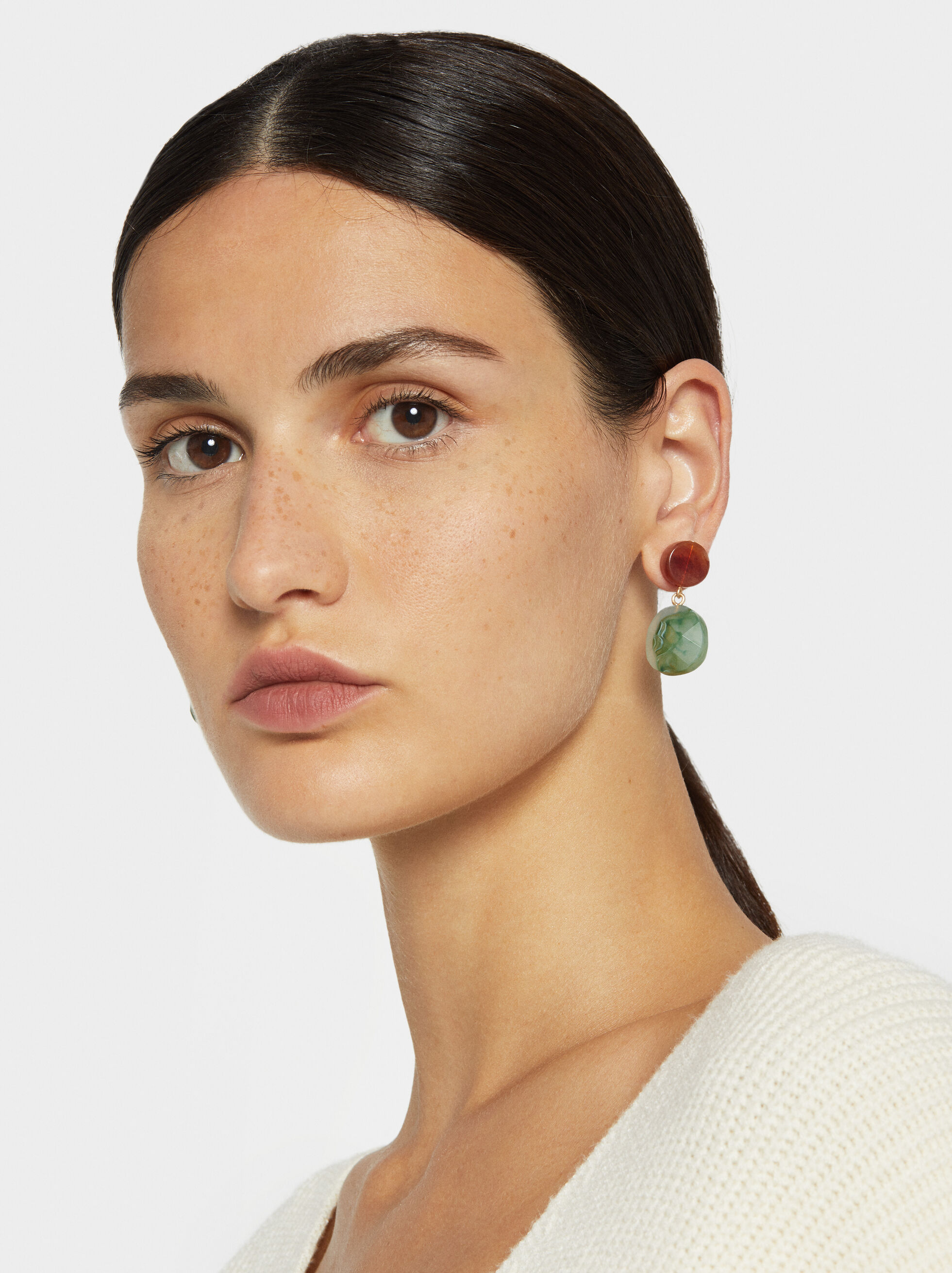 Stone Story Medium Earrings, Multicolor, hi-res