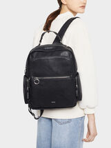 Backpack With Outer Pockets, Black, hi-res