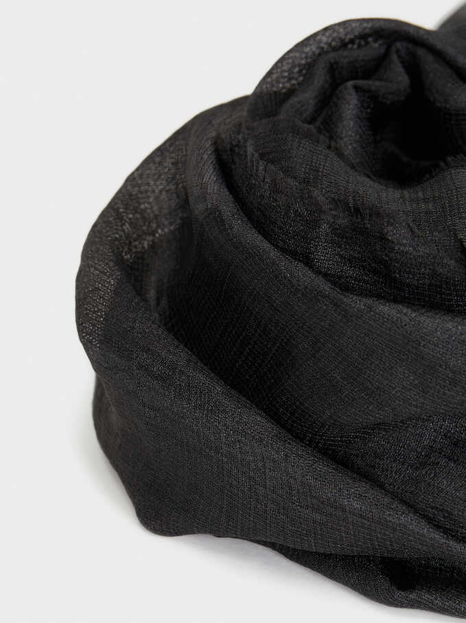 Formal Scarf, Black, hi-res