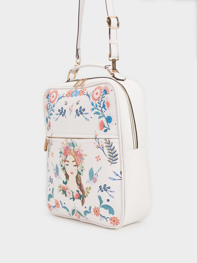 Blossom Travel Backpack, Pink, hi-res