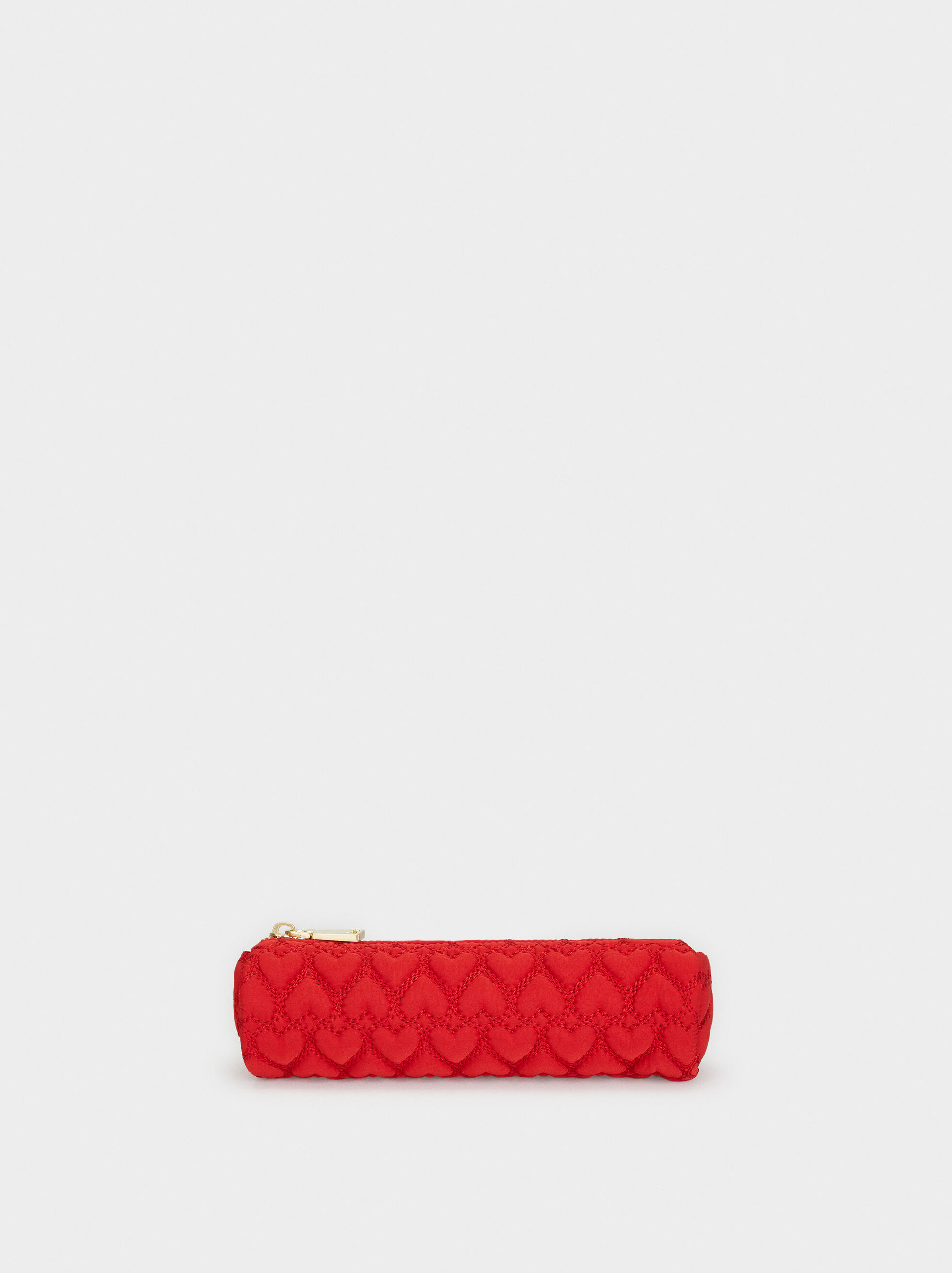 We Are Love Pencil Case With Hearts, Red, hi-res