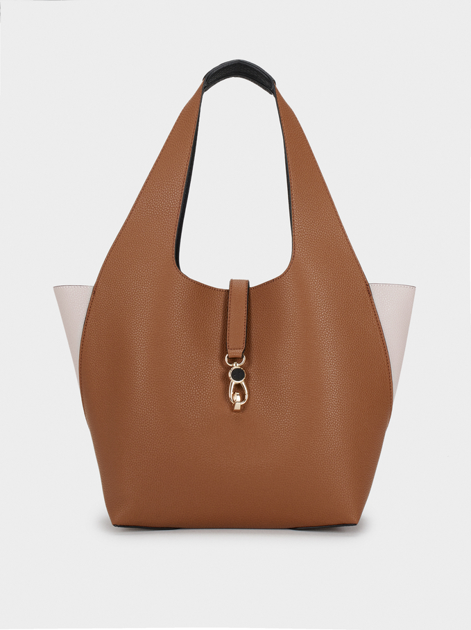 Reversible Handbag, Camel, hi-res