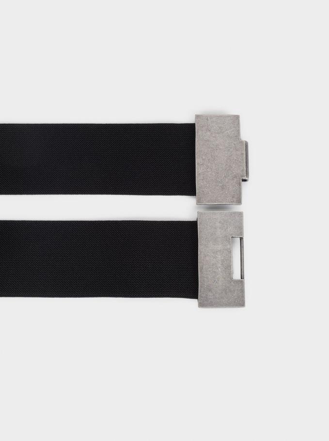 Elastic Belt, Black, hi-res