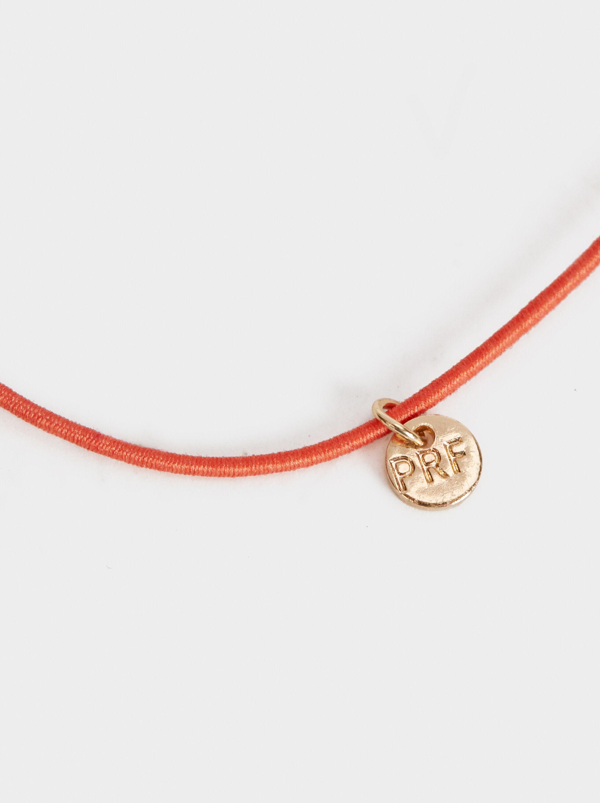 Elastic Bracelet With Stone, Orange, hi-res