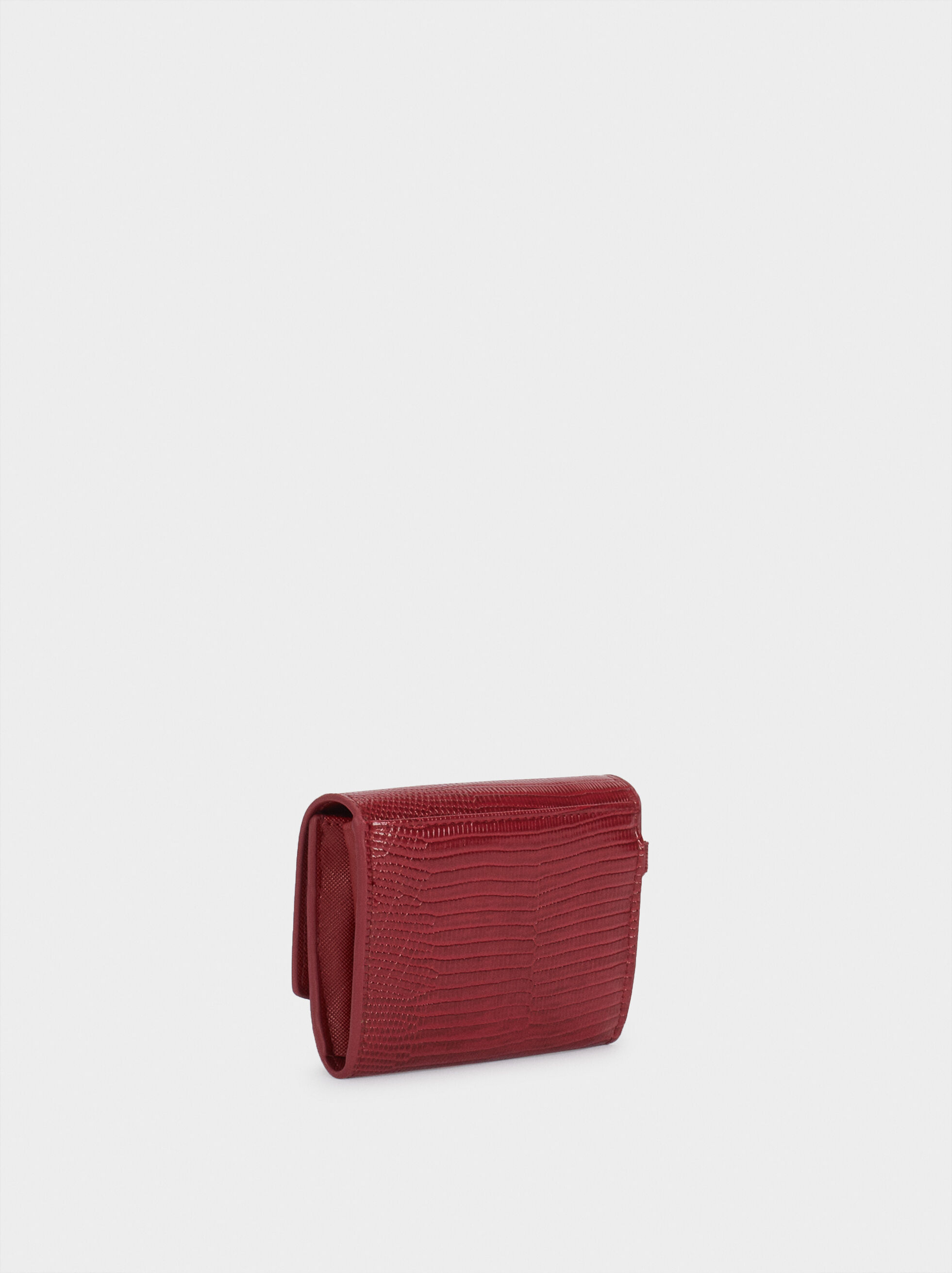 Animal Print Purse, Red, hi-res