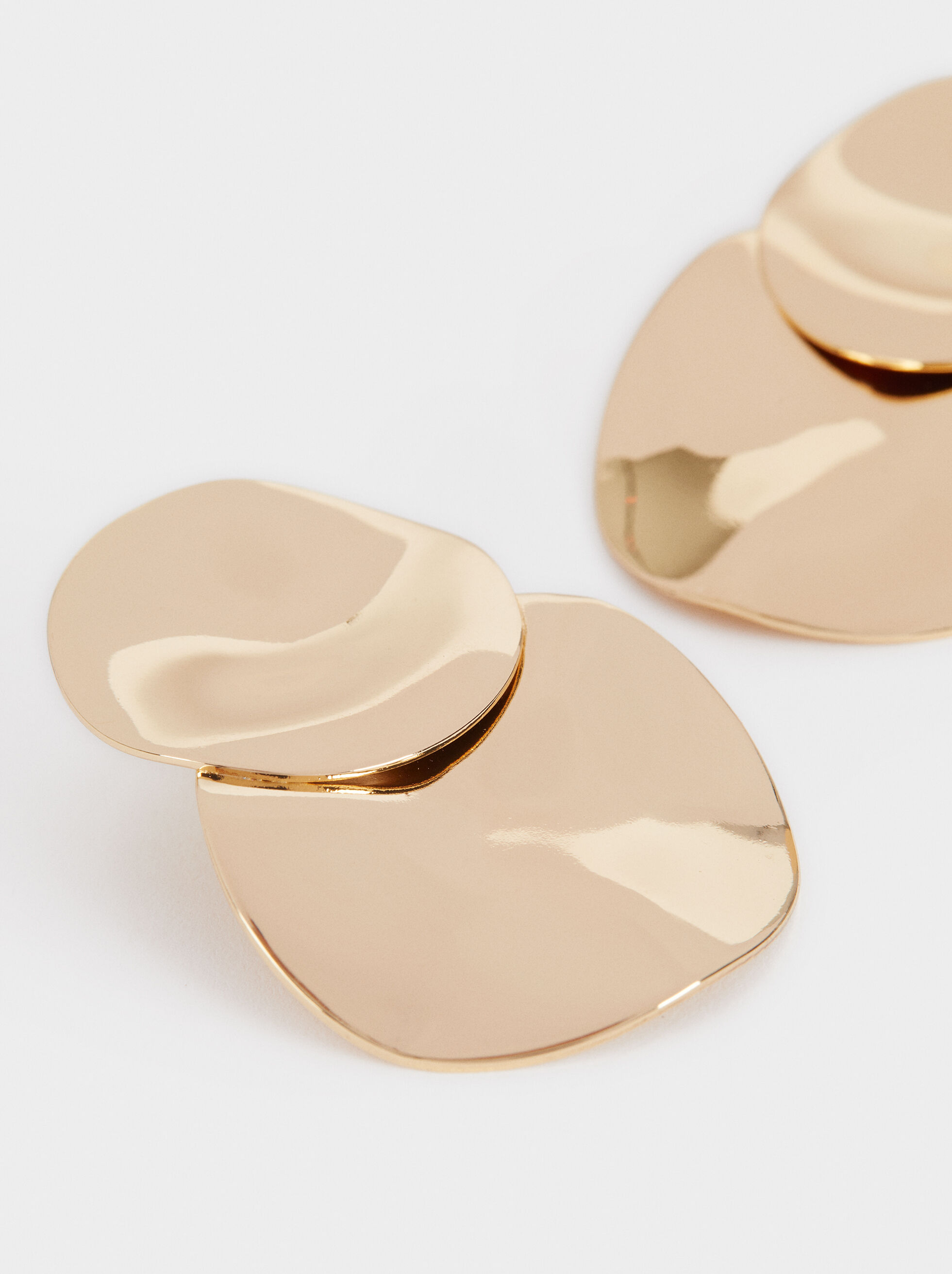 Long Gold Earrings, Golden, hi-res