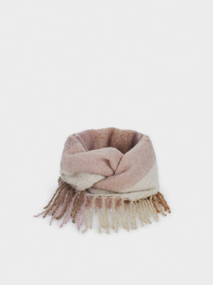 Two-Tone Snood, Pink, hi-res