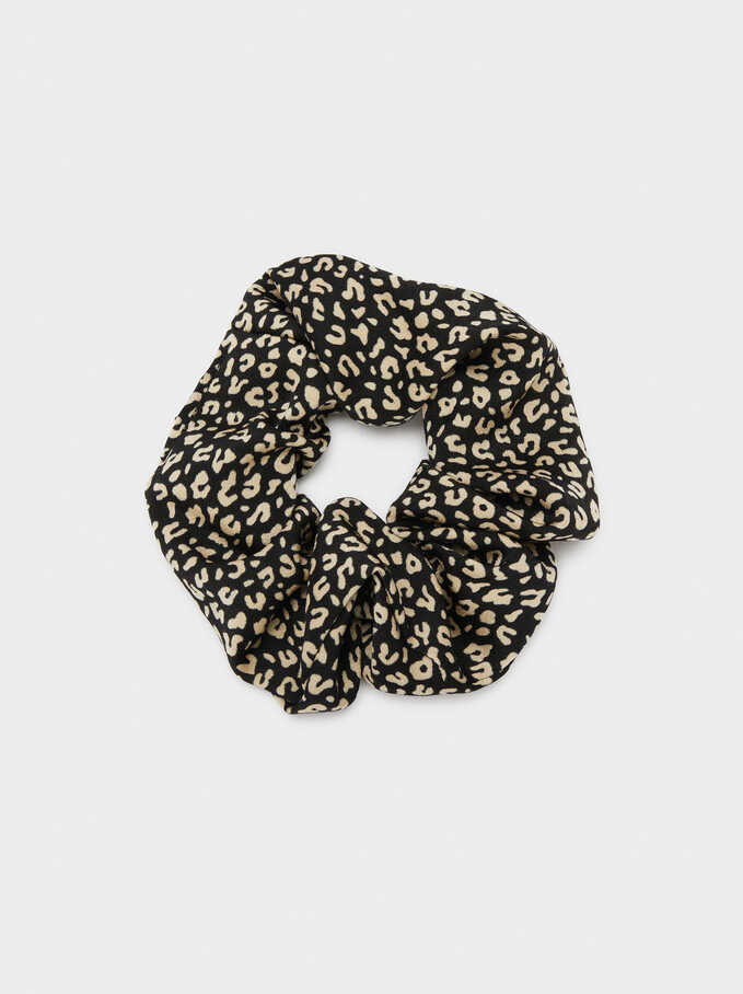 Printed Scrunchie, Multicolor, hi-res