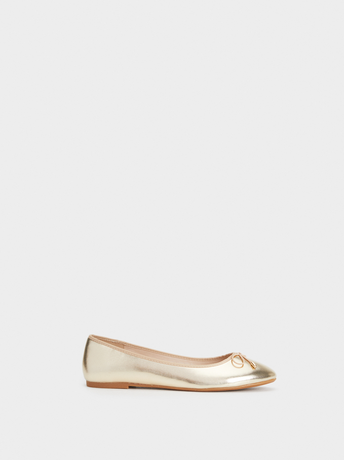 Special Price Ballerinas, Golden, hi-res