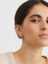 Creme Short Earrings, , hi-res