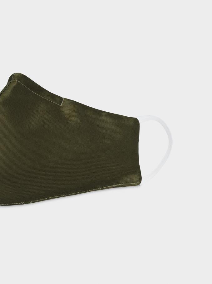 Khaki Reusable Face Mask, Khaki, hi-res