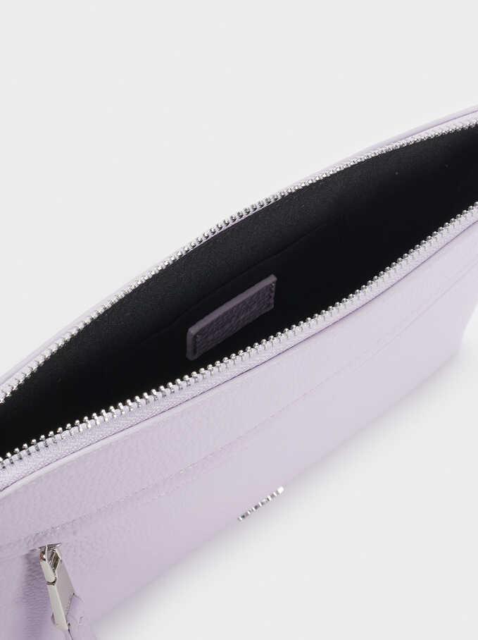 Crossbody Bag With Outer Pocket, Violet, hi-res