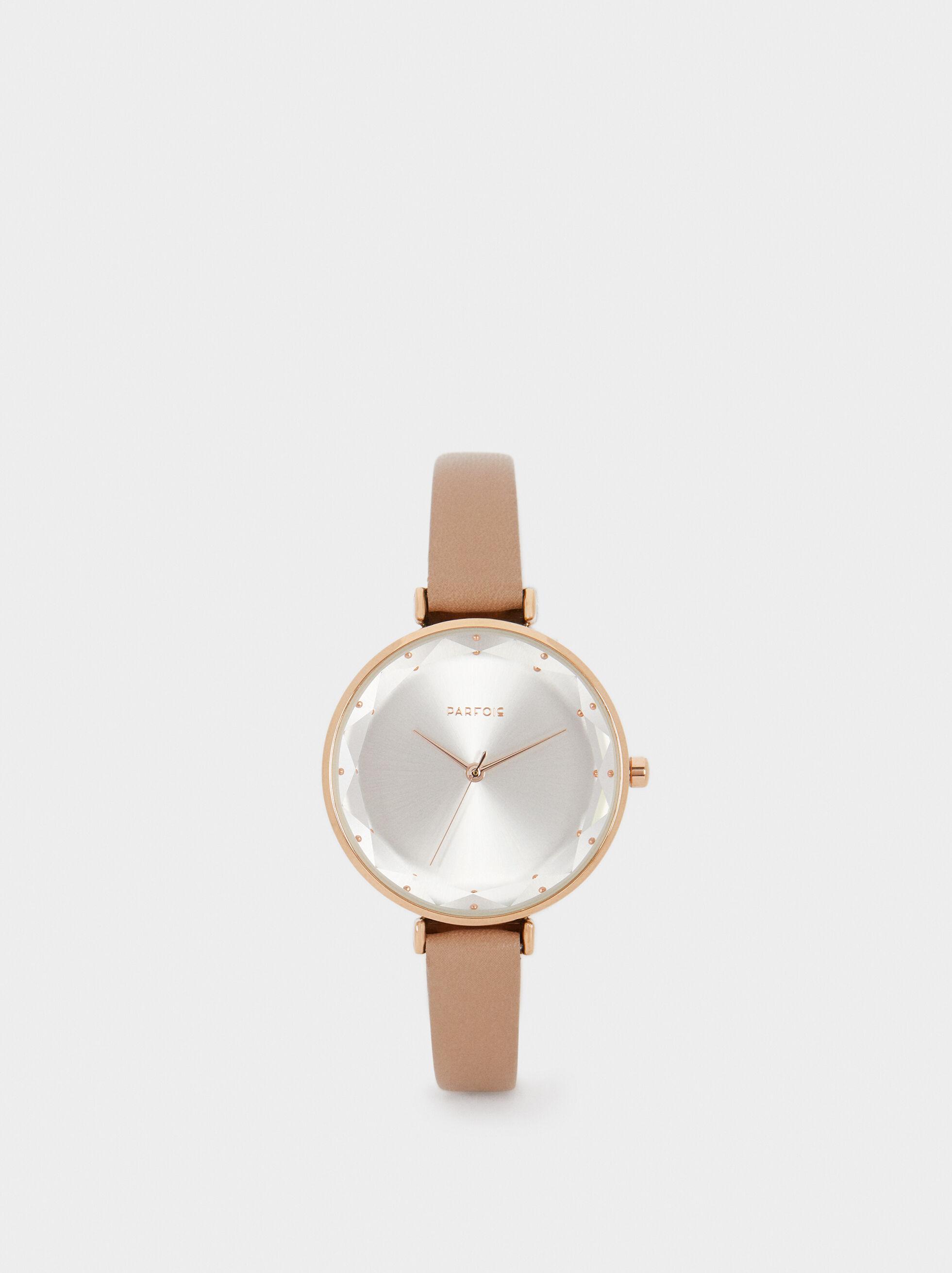 Rose Gold Metallic Watch, , hi-res